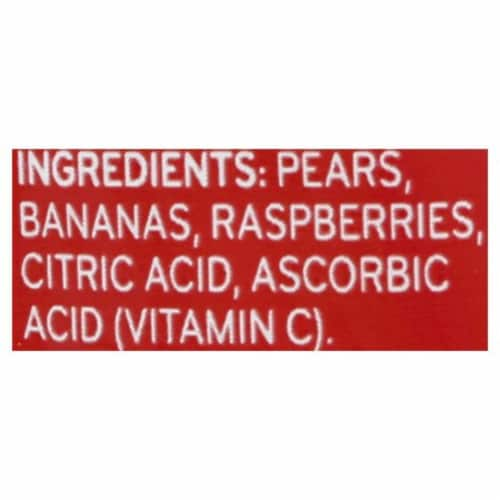 Beech-Nut Fruities Pear Banana & Raspberry Stage 2 Baby Food Pouch Perspective: bottom