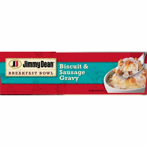 Jimmy Dean Biscuit and Sausage Gravy Breakfast Bowl Perspective: bottom