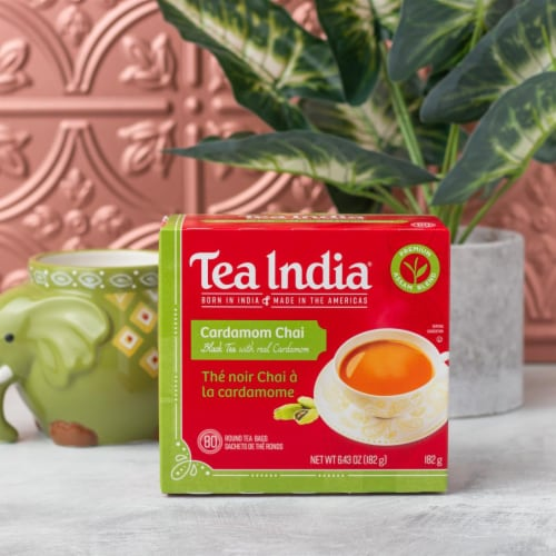 Tea India Cardamom Chai 80ct - 12 Pack Perspective: bottom