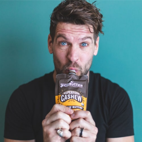 Yumbutter Superfood Cashew Butter Squeeze Pouch Perspective: bottom