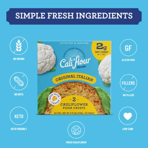 Cali'flour Foods Original Italian Pizza Crust Perspective: bottom