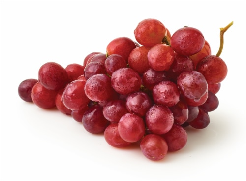 Red Seedless Grapes - Sold by the Bag - Estimated Bag Weight 2 Pounds Perspective: front