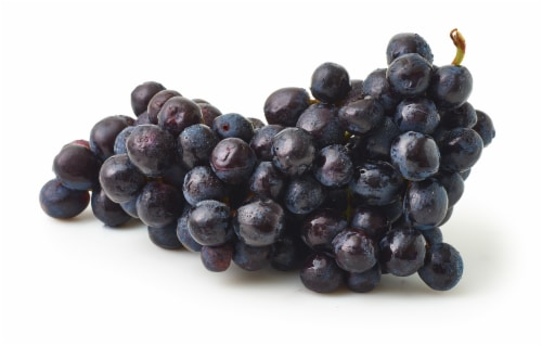 Grapes - Black- Seedless - Sold by the Bag - Estimated Bag Weight 2 Pounds Perspective: front