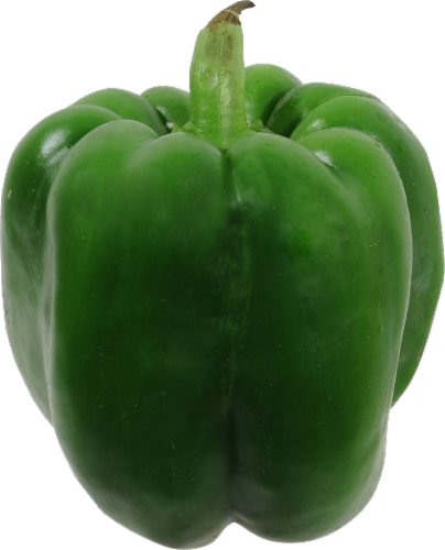 Large Green Bell Pepper Perspective: front