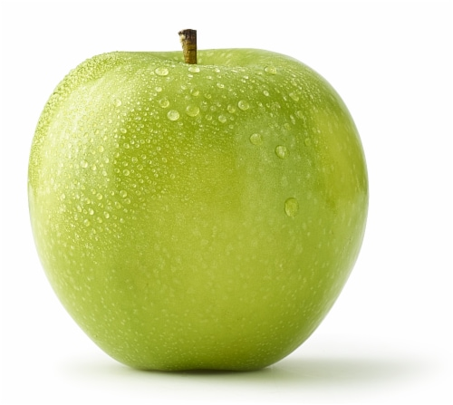 Small Green Granny Smith Apple Perspective: front