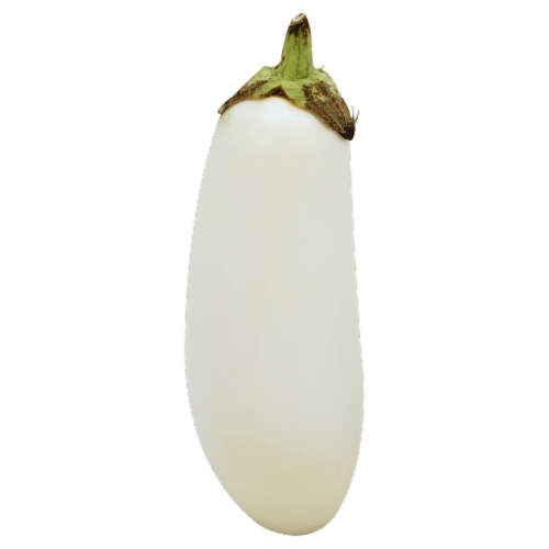 White Eggplant Perspective: front