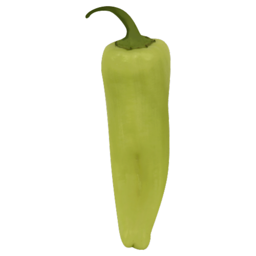 Yellow Banana Peppers Perspective: front