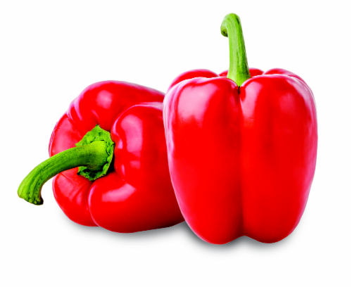 Red Cherry Bell Peppers Perspective: front