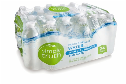 Simple Truth™ Vapor Distilled Water With Electrolytes Perspective: front