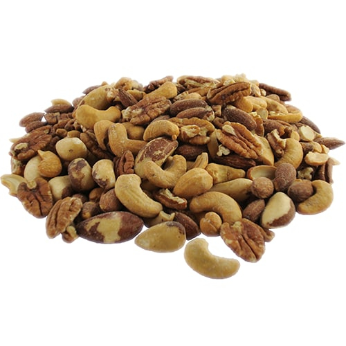 Roasted & Salted Deluxe Mixed Nuts Perspective: front