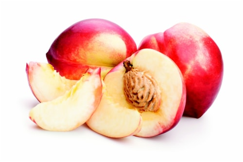 Organic White Nectarines Perspective: front