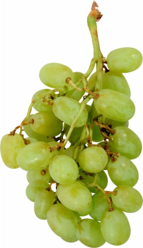 Organic - Grapes - White - Seedless - Sold By The Bag - Estimated Bag Weight 2 Pounds Perspective: front
