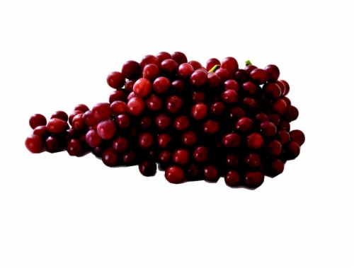 Organic Red Seedless Grapes - Sold By The Bag - Estimated Bag Weight 2 Pounds Perspective: front