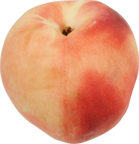 Organic White Peaches Perspective: front