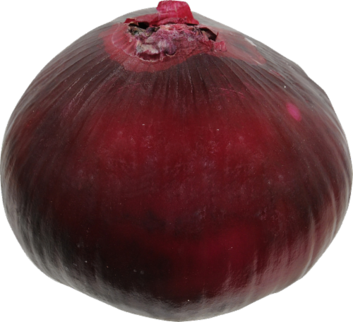 Organic Red Peeled Onions Perspective: front