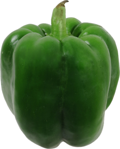 Organic Green Bell Pepper Perspective: front