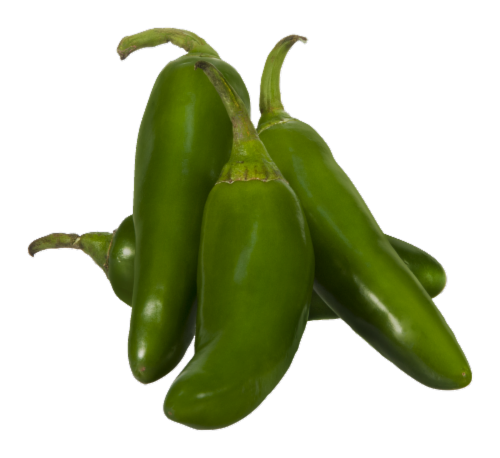 Organic Jalapeno Peppers Perspective: front