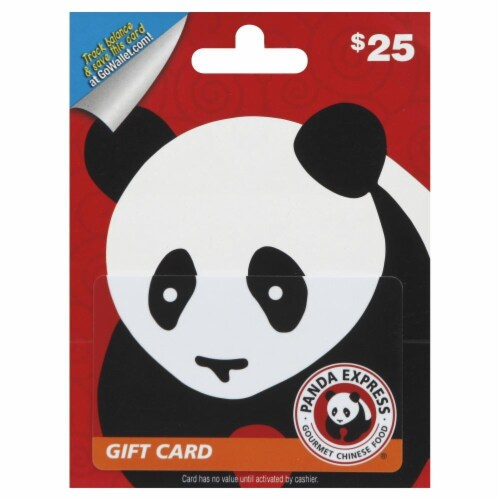 Panda Express $25 Gift Card – Activate and add value after Pickup Perspective: front