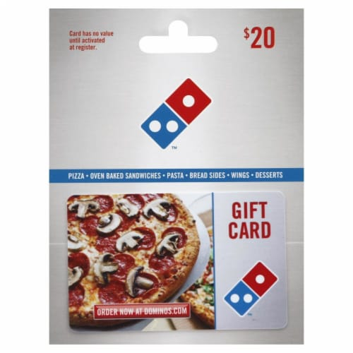 Domino's Pizza $20 Gift Card – Activate and add value after Pickup Perspective: front