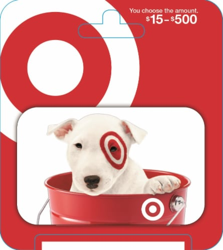 Target $15-$500 Gift Card – Activate and add value after Pickup Perspective: front