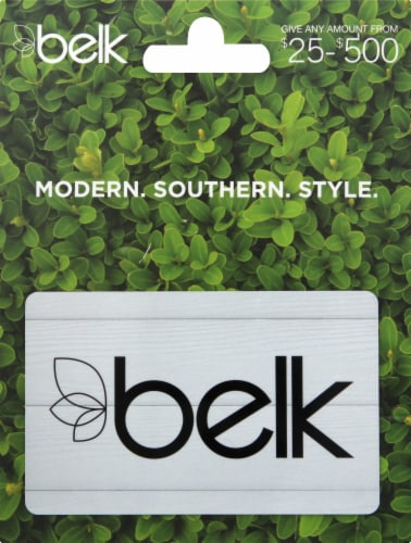 Belk $25-$500 Gift Card – Activate and add value after Pickup Perspective: front