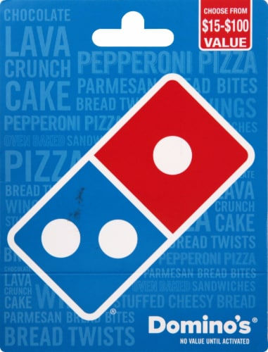 Domino's $15-$100 Gift Card – Activate and add value after Pickup Perspective: front