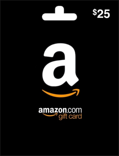 Amazon.com $25 Gift Card – Activate and add value after Pickup Perspective: front