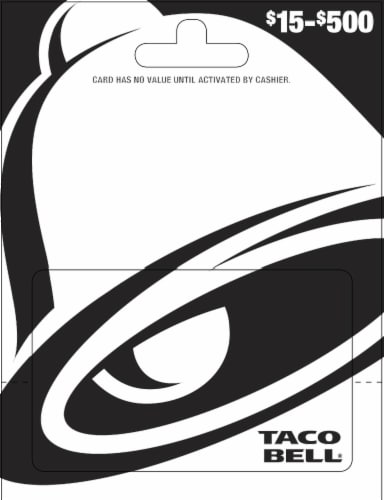 Taco Bell $15-$500 Gift Card – Activate and add value after Pickup Perspective: front