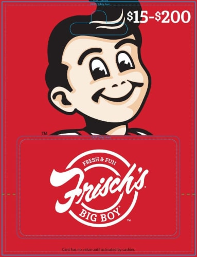 Frisch's $15-$500 Gift Card – Activate and add value after Pickup Perspective: front