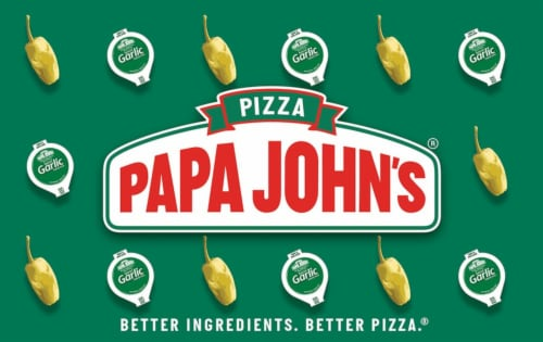 Papa John's $25-$250 Gift Card – Activate and add value after Pickup Perspective: front