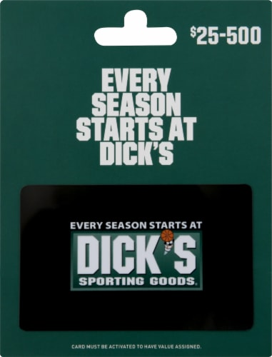 Dick's Sporting Goods $25-$500 Gift Card – Activate and add value after Pickup Perspective: front