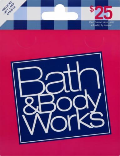 Bath & Body Works $25 Gift Card – Activate and add value after Pickup Perspective: front