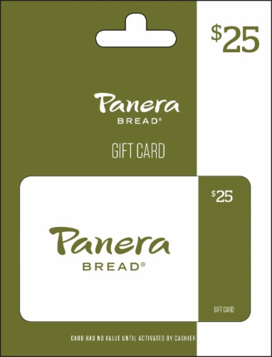 Panera Bread $25 Gift Card – Activate and add value after Pickup Perspective: front
