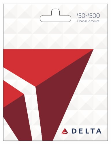 Delta Airlines $50-$500 Gift Card – Activate and add value after Pickup Perspective: front