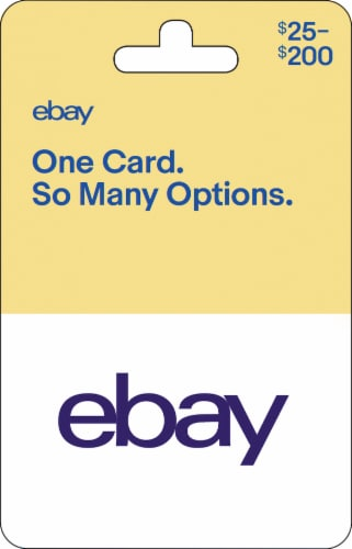 eBay $25-$200 Gift Card – Activate and add value after Pickup Perspective: front