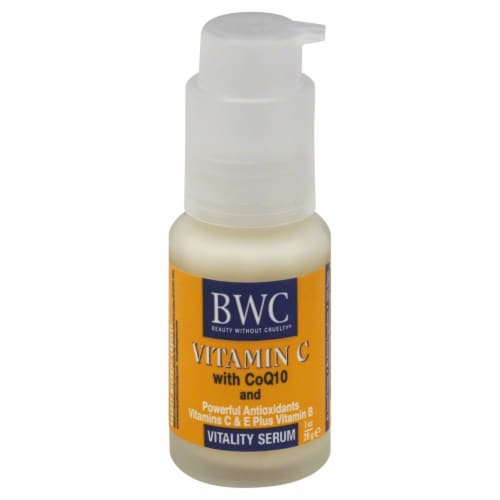 BWC Vitamin C with CoQ10 Vitality Serum Perspective: front