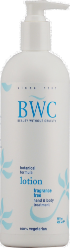 Beauty Without Cruelty Fragrance Free Hand & Body Lotion Perspective: front