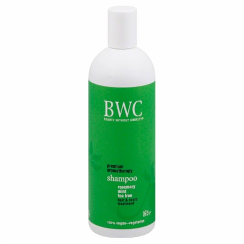 Beauty Without Cruelty Rosemary Mint Tea Tree Shampoo Perspective: front