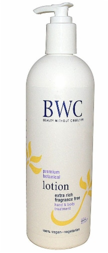 Beauty Without Cruelty Extra Rich Fragrance Free Hand and Body Lotion Perspective: front