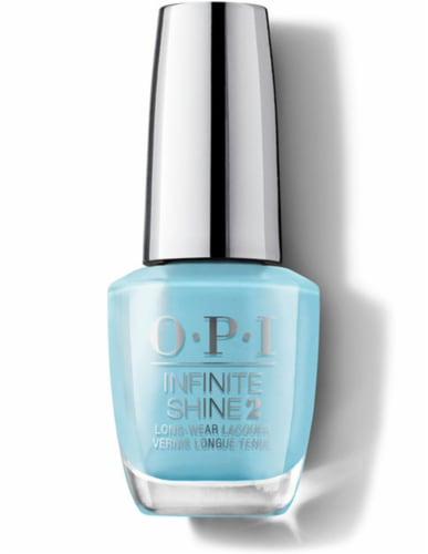OPI Nail Polish Lacquer Infinite Shine - To Infinity And Blue-yond IS L18 Perspective: front