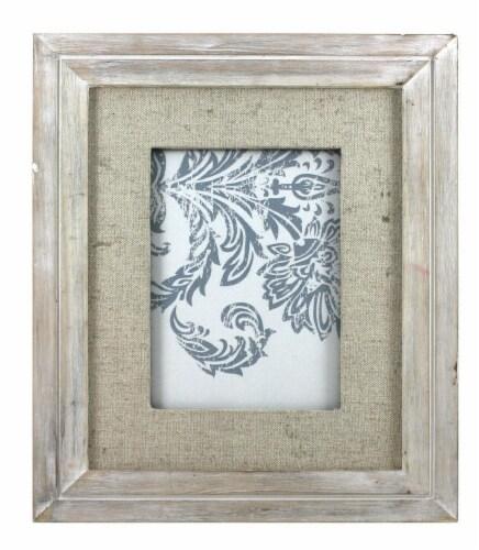 Kroger Linen Mat Gray 5x7 Picture Frame