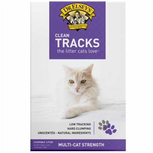 Dr. Elsey's Clean Tracks Unscented Cat Litter Perspective: front