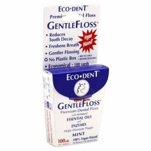Eco-Dent Mint Premium Dental Gentle Floss Perspective: front