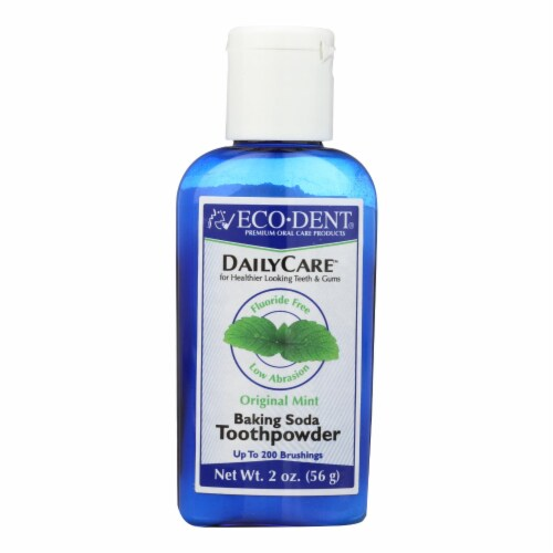 Eco-Dent DailyCare Original Mint Baking Soda Toothpowder Perspective: front