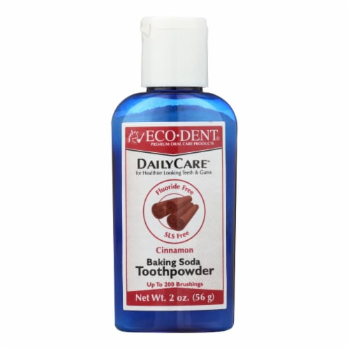 Eco-Dent DailyCare Cinnamon Baking Soda Toothpowder Perspective: front