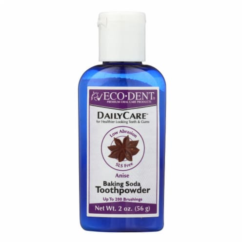 Eco-Dent DailyCare Anise Baking Soda Toothpowder Perspective: front