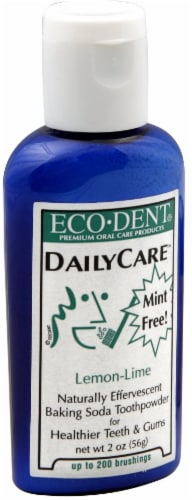 Eco-Dent Daily Care Lemon-Lime Baking Soda Toothpowder Perspective: front