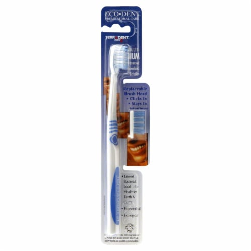 Eco-Dent Terradent Med5 Adult 31 Medium Toothbrush + Replaceable Brush Head Perspective: front