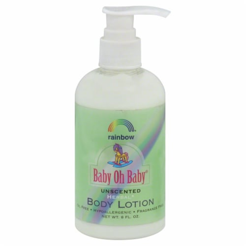 Rainbow Baby Oh Baby Unscented Herbal Body Lotion Perspective: front
