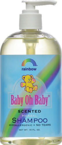 Rainbow Baby Oh Baby Scented Organic Herbal Baby Shampoo Perspective: front